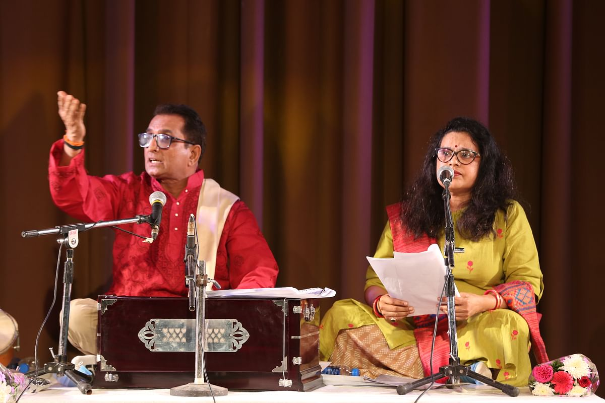 Bhopal: Theatre artist Amod Bhatt and his troupe present Rangsangeet at the Tribal Museum