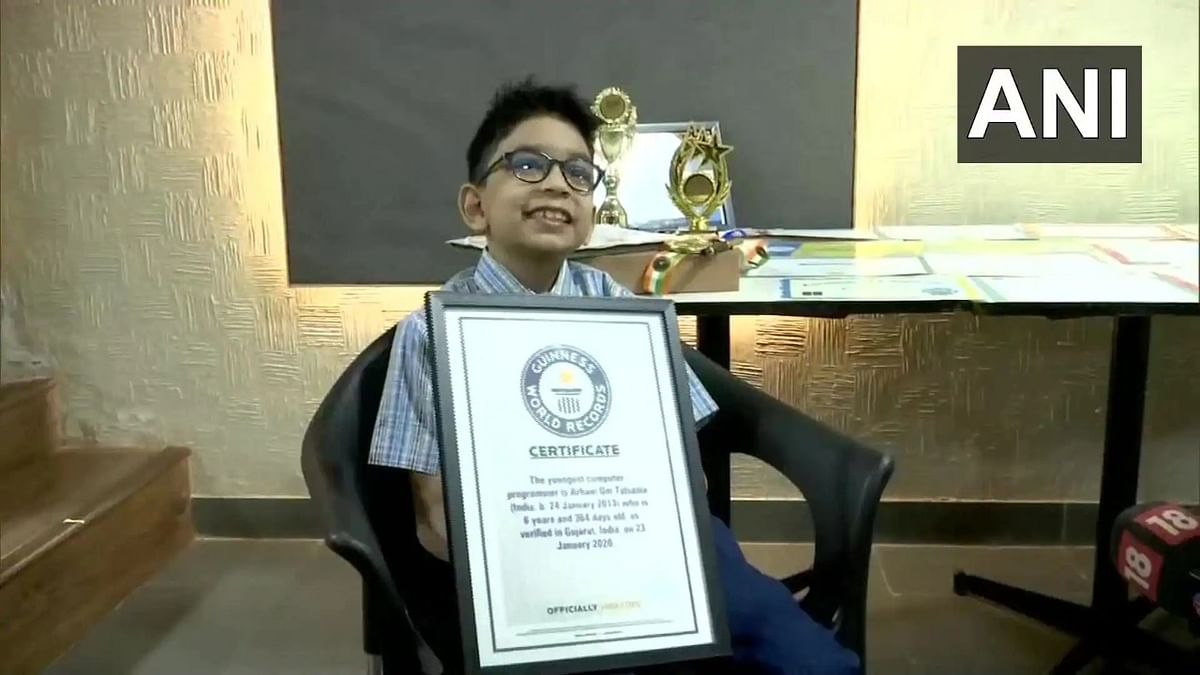 6-year-old Ahmedabad boy enters Guinness World Record as youngest computer programmer