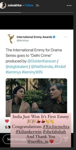 From Hrithik Roshan to Neha Dhupia: Bollywood congratulates team 'Delhi Crime' on International Emmy win