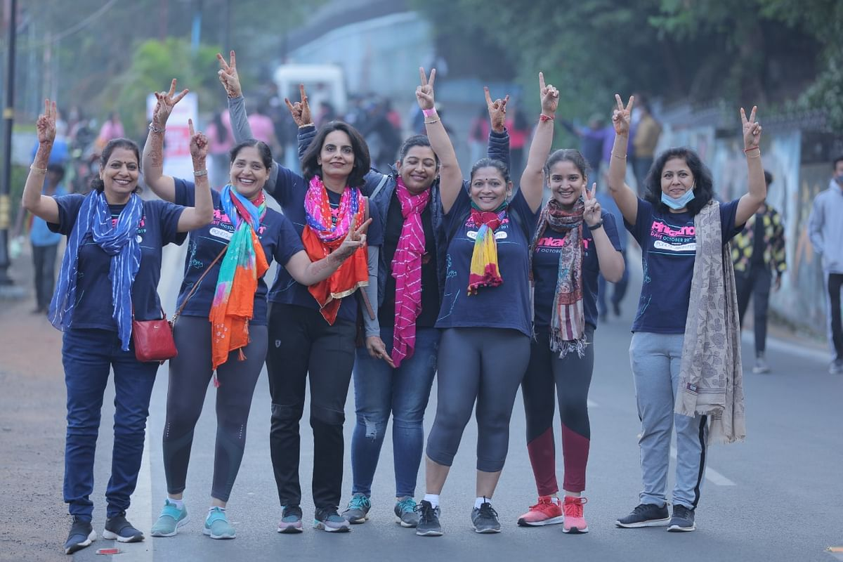 Bhopal: Over 400 women run for fitness in Pinkathon