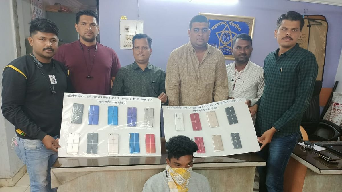 Mira Bhayandar: 20-year-old thief arrested by Kashimira police; 19 smartphones worth Rs 1.70 lakh recovered
