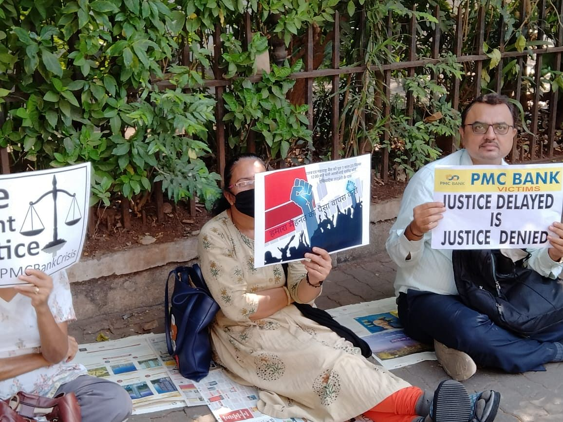 PMC Bank protest: Depositors sit on hunger strike