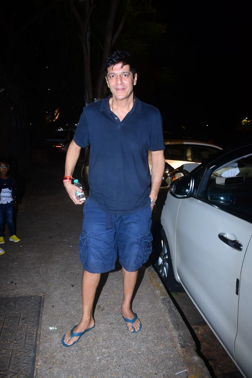 Chunky Pandey spotted at salon in Bandra