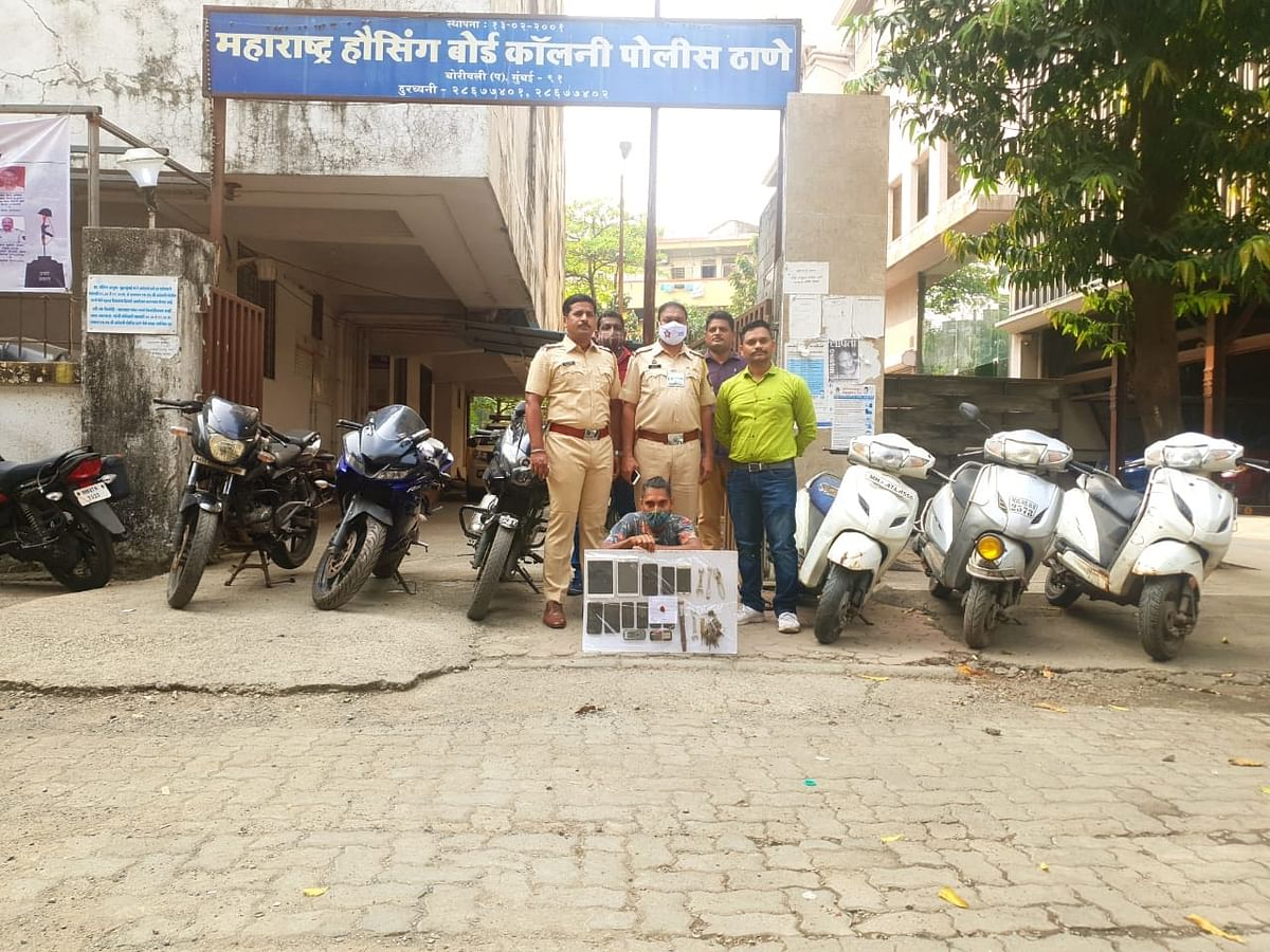Mumbai Crime Watch:  Cops recover six stolen bikes, 10 mobile phones from serial bike thief