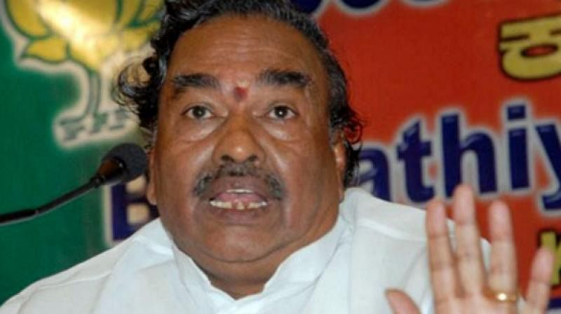 BJP will not field a Muslim candidate for Belagavi LS bypoll: Minister K S Eshwarappa