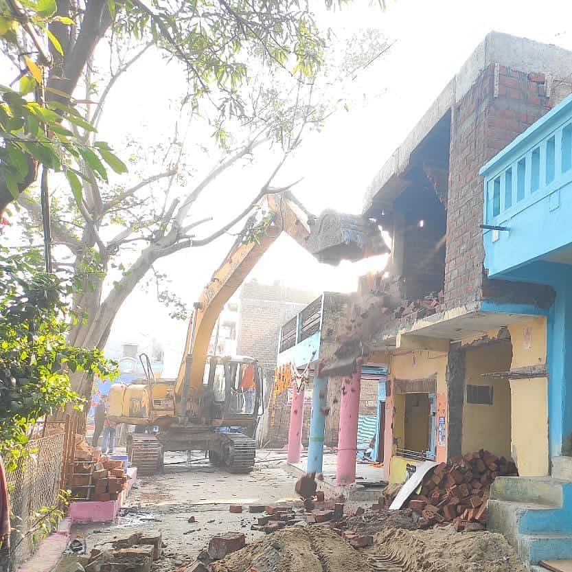 Madhya Pradesh: Illegal structures of Computer Baba's history-sheeter aide razed in Indore