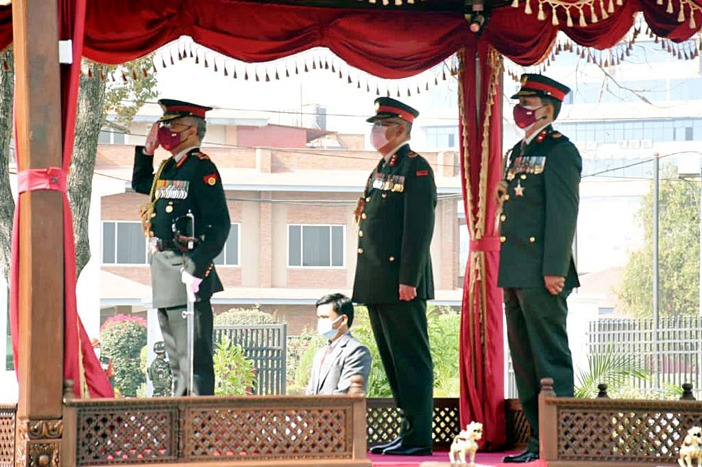 Gen Naravane conferred the honorary rank of General of Nepali Army by President Bhandari