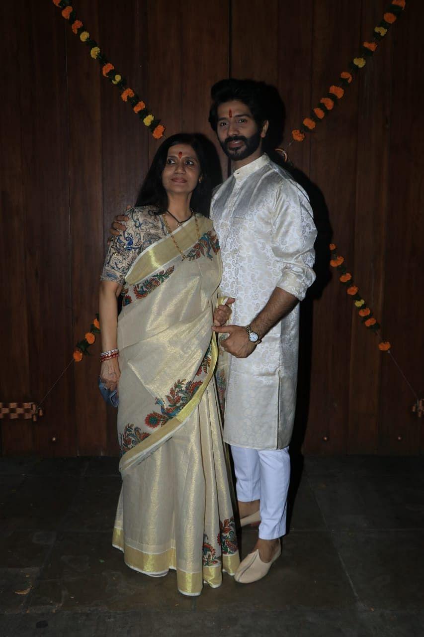 Vardhaan Puri with Mom in Juhu