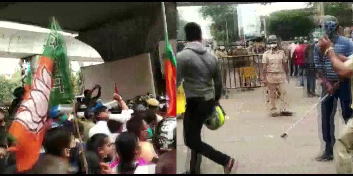 Watch: Bengal BJP workers clash with cops over Majerhat bridge opening