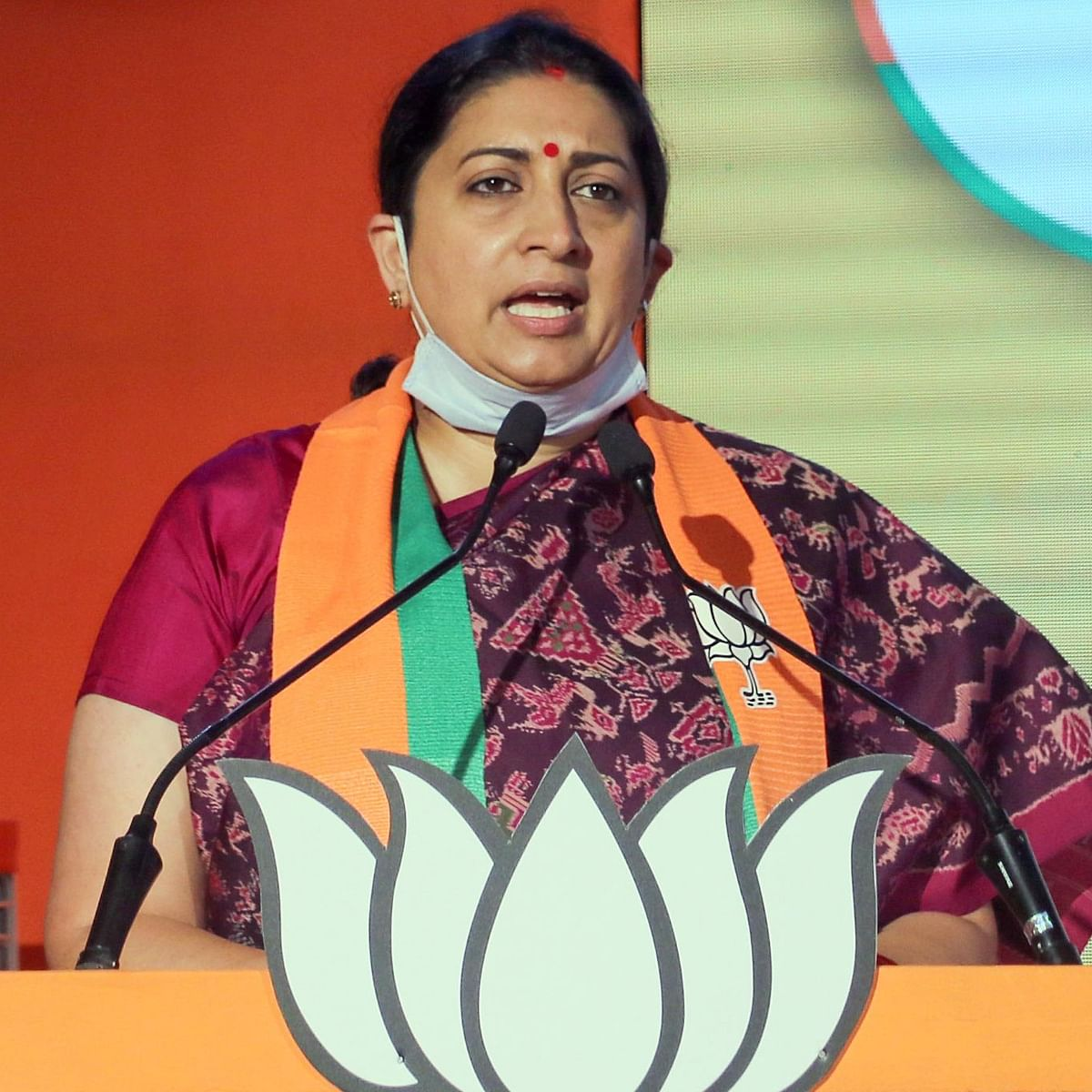 'You can call me names but there are no cops beating down your door': Smriti Irani to journalist on Twitter
