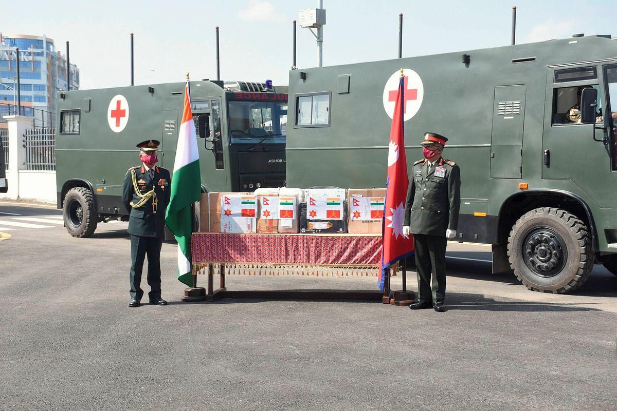 Gen Naravane conferred the honorary rank of General of Nepali Army by President Bhandari