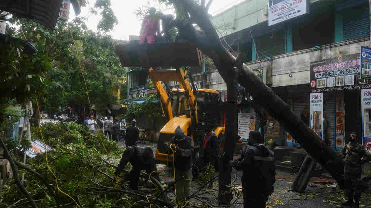 Three killed, trees uprooted as cyclone Nivar batters Tamil Nadu, Puducherry