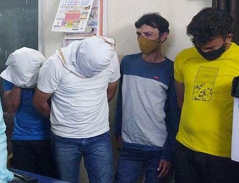 Boys arrested from brothel at Nanakheda police station.