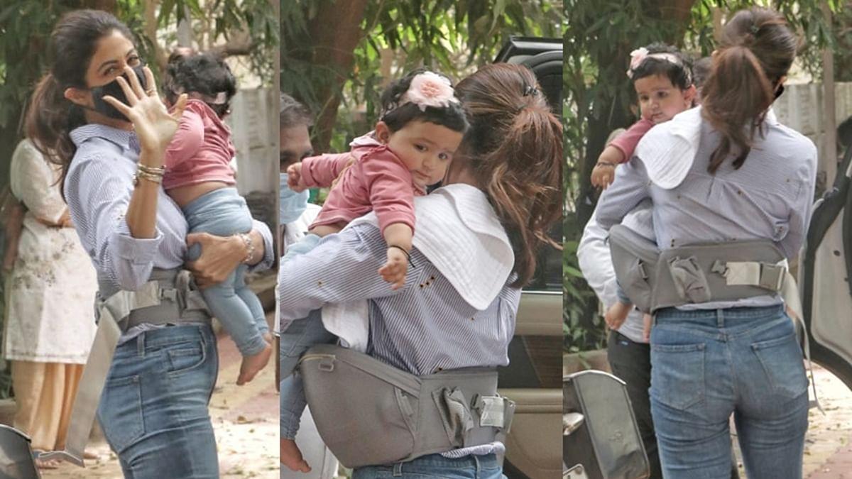 Cuteness Overload! Unseen pics of Shilpa Shetty Kundra's baby girl Samisha captured by paparazzi