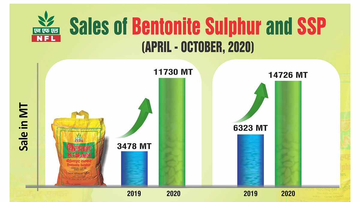 Madhya Pradesh: National Fertilizers Limited registers steep growth in sale of SSP and Bentonite Sulphur
