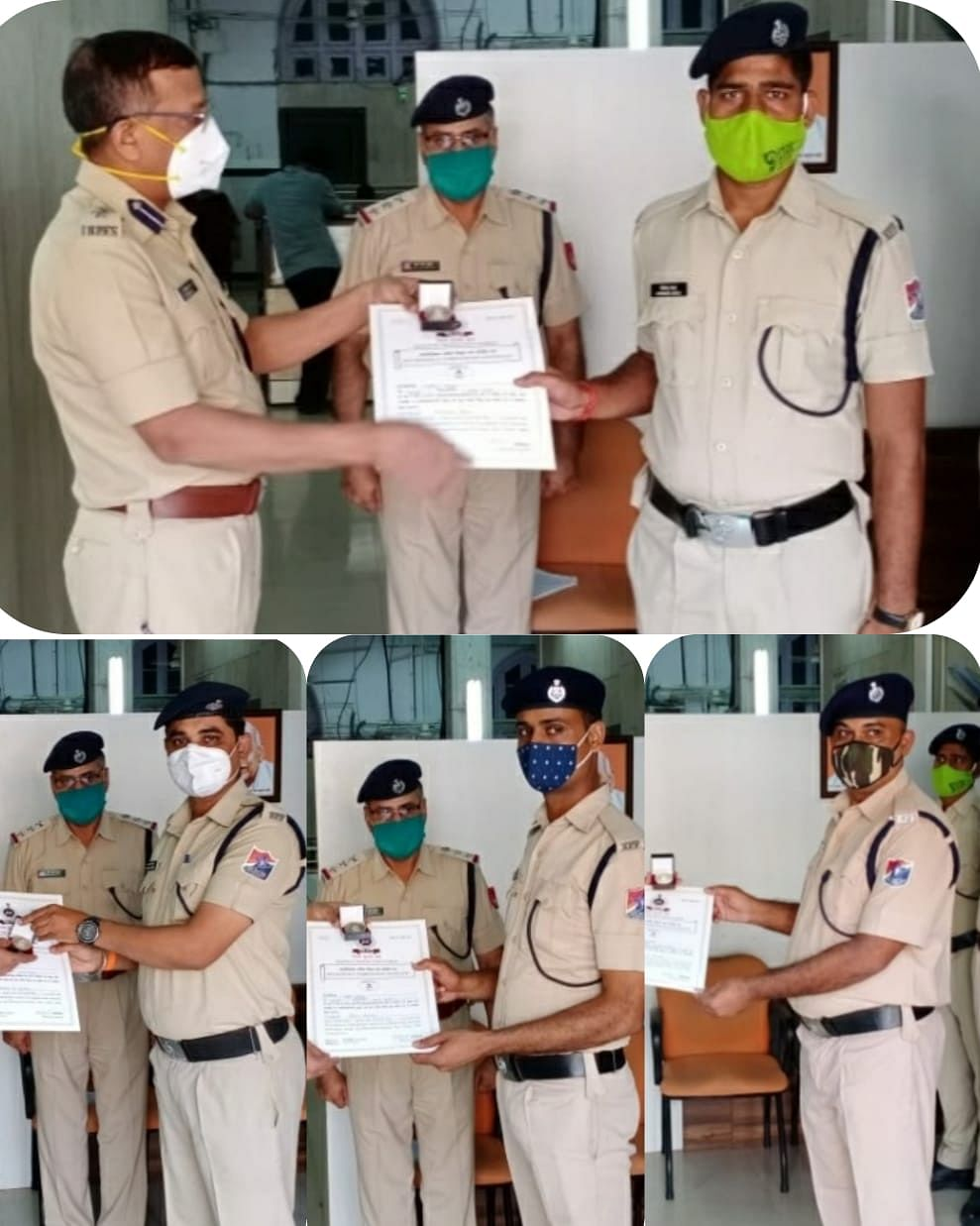 Director-General RPF awards officers who helped passengers on Mahalaxmi Express