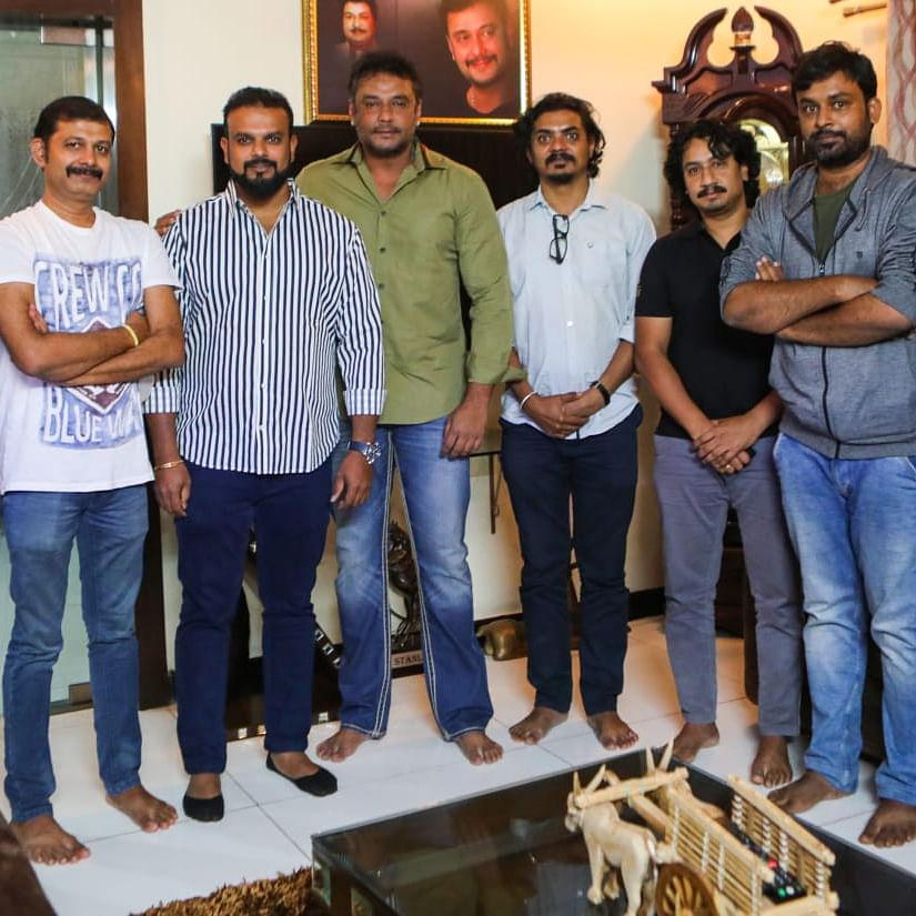 Challenging Star Darshan invites Mansore and team of 'Act 1978' to his abode; see pics