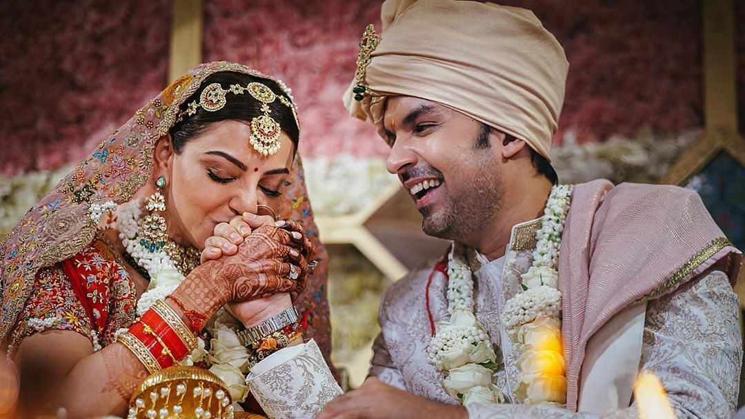 Actor Kajal Aggarwal tied the knot with entrepreneur Gautam Kitchlu in a pirvate ceremony here. The couple got married on Friday with their immediate families and close friends in attendence.