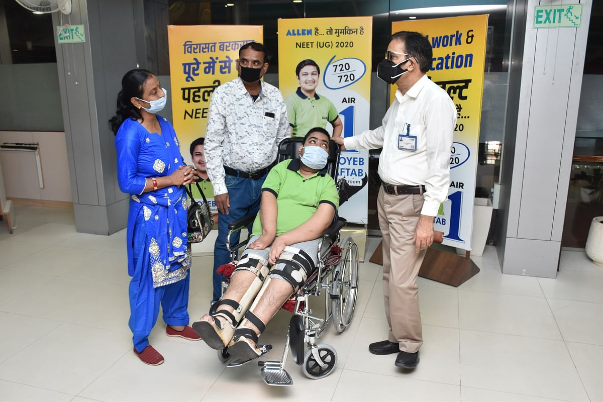 ALLEN Career Institute Kota's student suffering from cerebral palsy now admitted in IT Branch of IIEST Shibpur