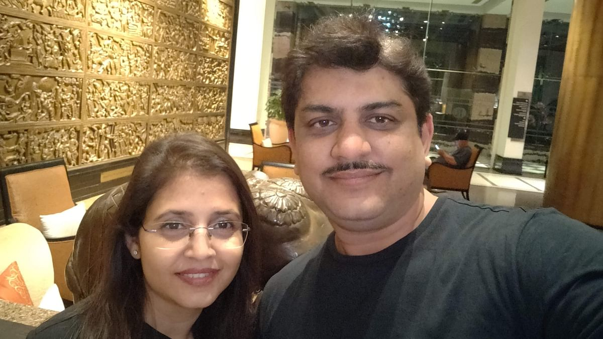 Anupam Bokey with his wife Sreoshi Bokey