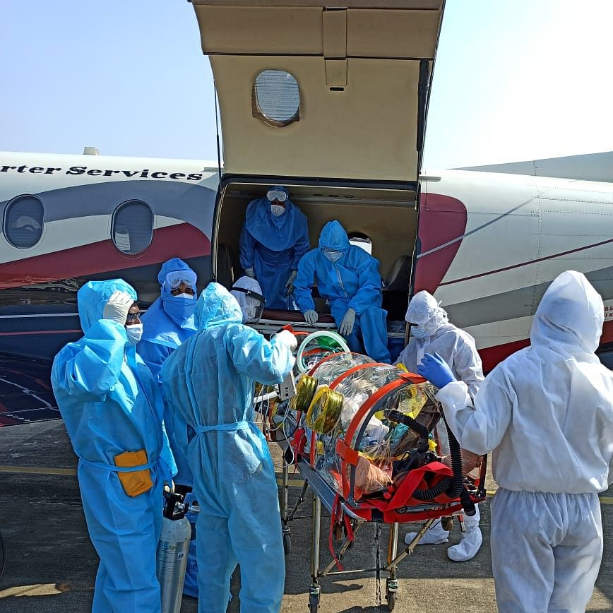 Indore: 60-year-old COVID patient airlifted to Chennai
