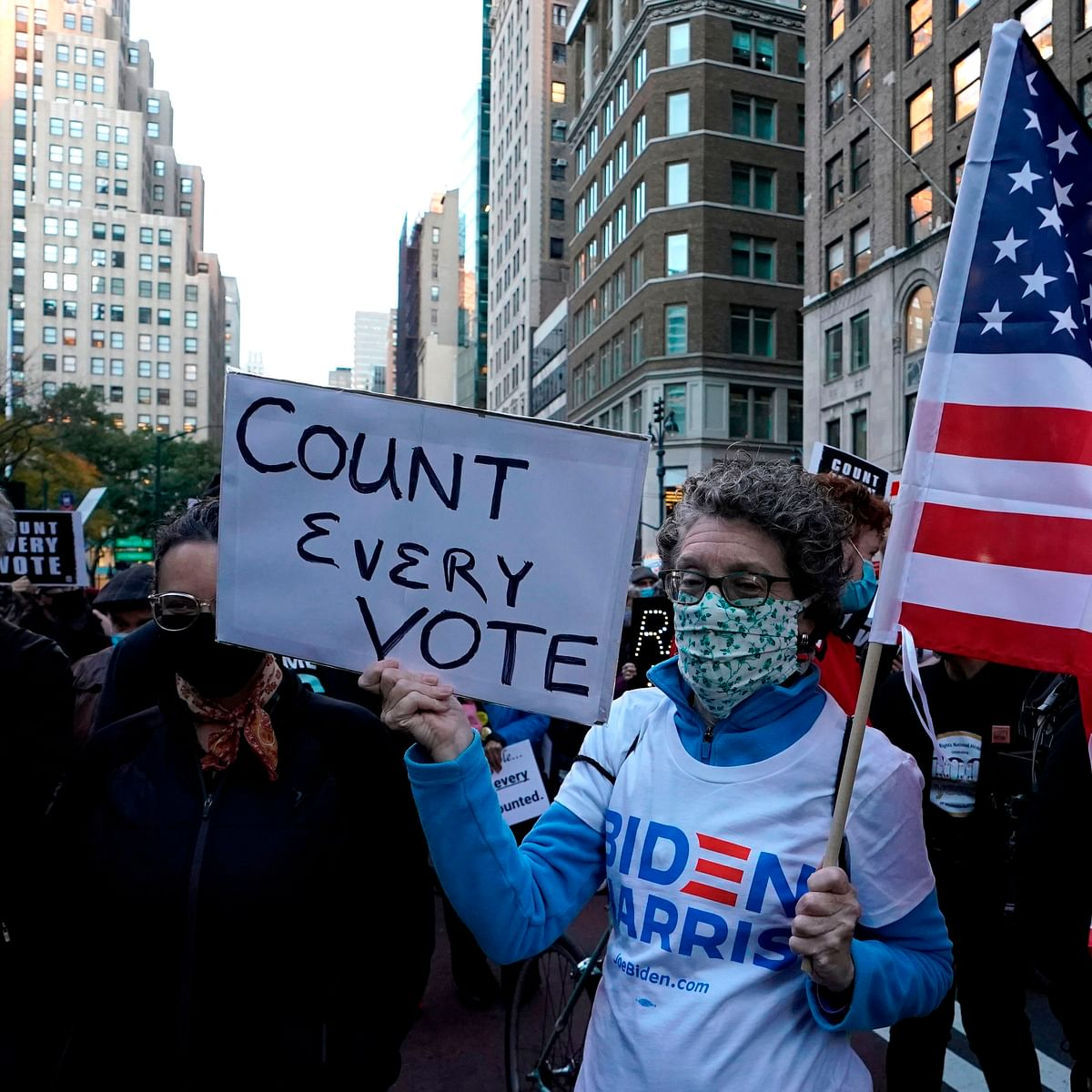 US Elections 2020: People protest in New York, Detroit, Manhattan ahead of poll results
