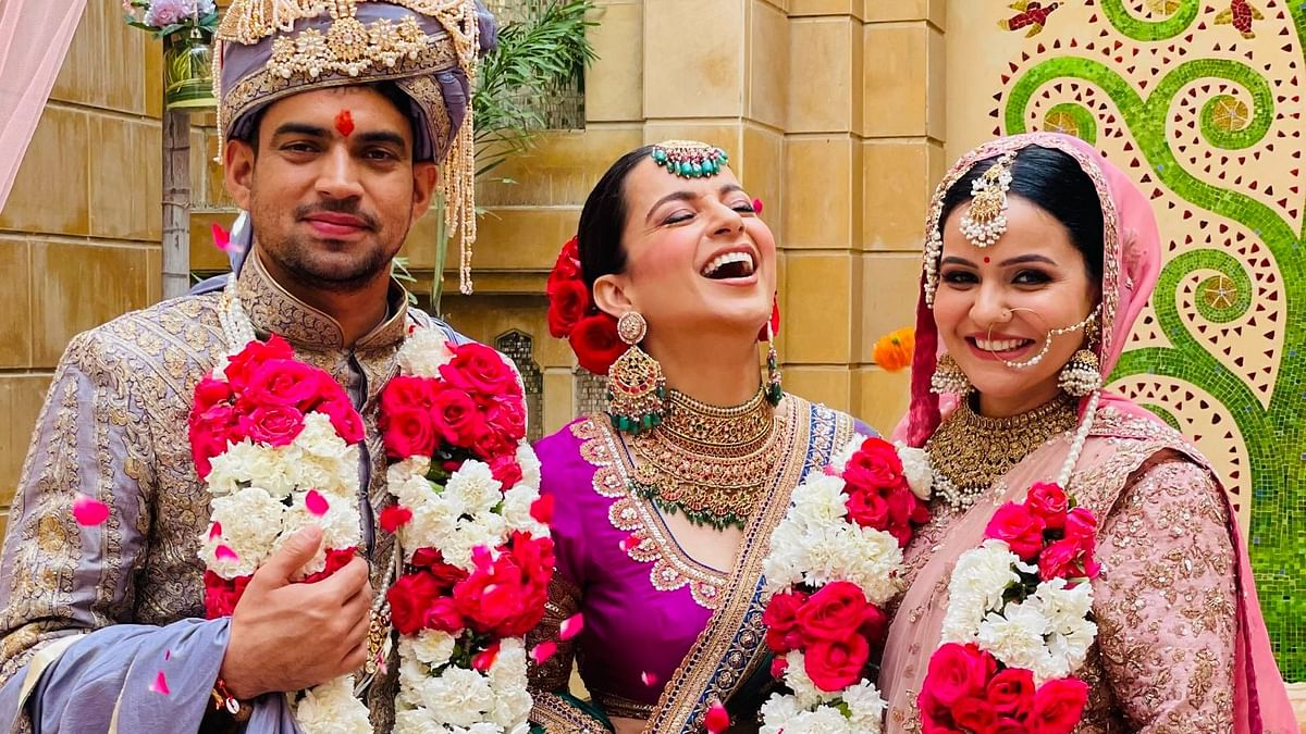 In Pics: Kangana Ranaut shares adorable stills from her brother Aksht's wedding
