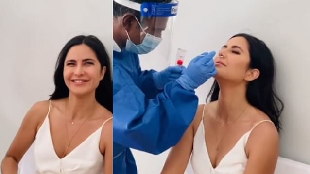 Watch: Katrina Kaif undergoes COVID-19 test 'with a smile' before commencing shoot