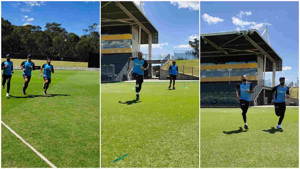 Team India had their first outdoor session on Saturday, two day after landing in Australia