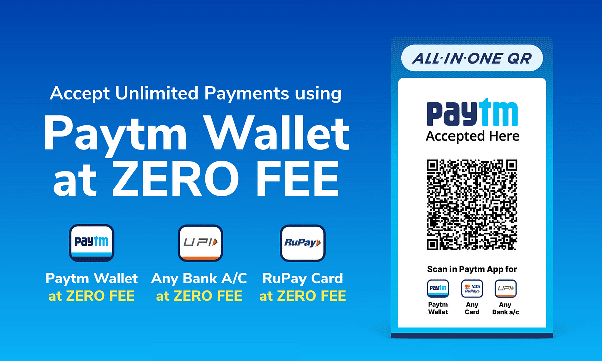 Paytm announces 0% fee on wallet payments for merchants