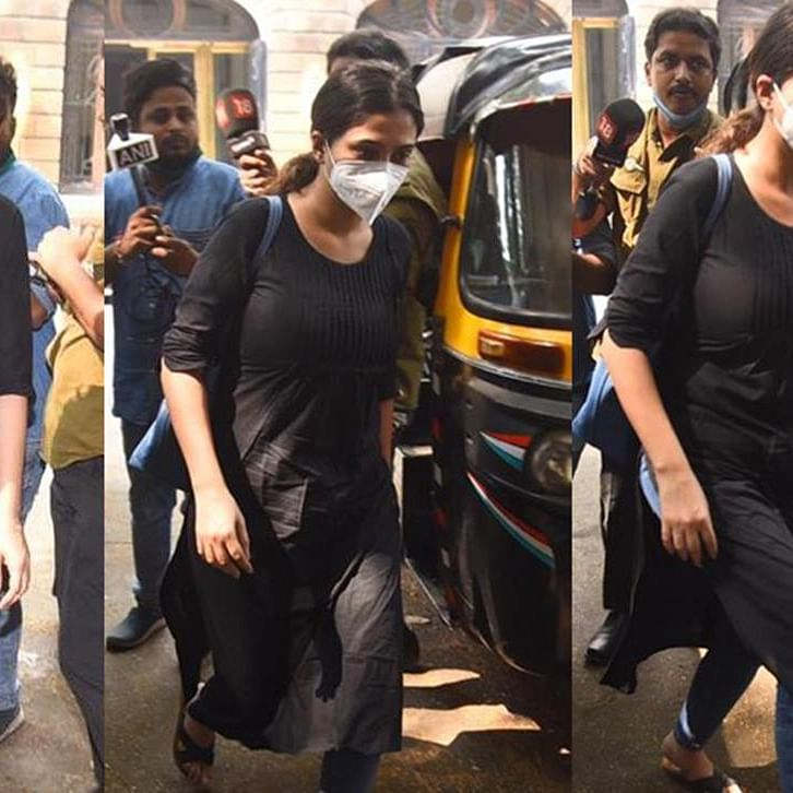 Pics: After remaining 'untraceable' for a week, Karishma Prakash arrives at NCB office