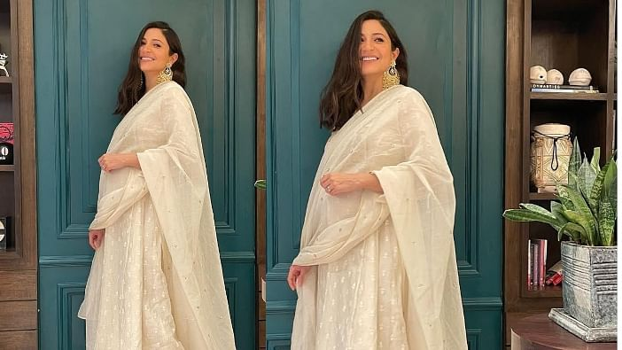 Anushka Sharma flaunts pregnancy glow in white ensemble, says 'got all dressed up to sit at home and eat'
