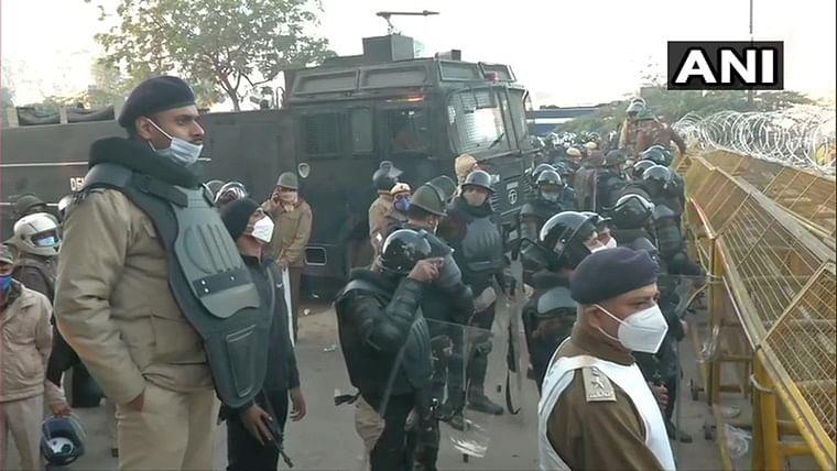 Amid farmers' 'Delhi Chalo' protest march, security increased at Haryana-Delhi border