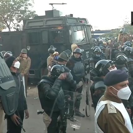 Amid farmers' 'Delhi Chalo' protest march, security increased at Haryana-Delhi border