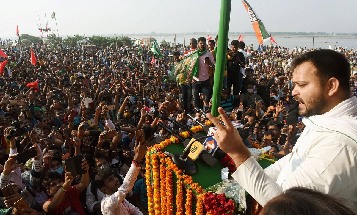 Bihar Elections 2020: Tejashwi Yadav breaks father Lalu Prasad's record for most rallies in a day