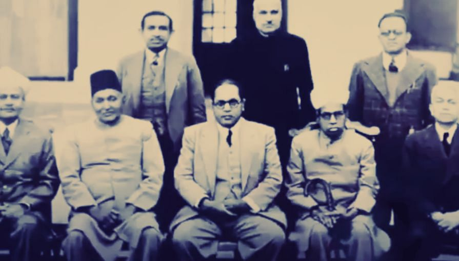 Dr Ambedkar and his team that drafted the Indian Constitution