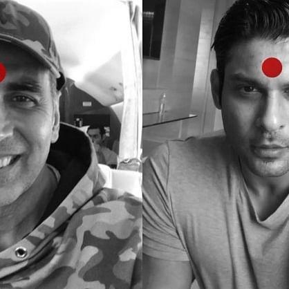 'Ab Humari Baari Hai': Sidharth Shukla lauds Akshay Kumar's initiative, netizens share pics donning red bindi