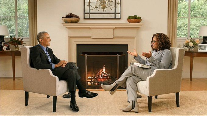Watch: BTS video of Barack Obama's interview with Oprah Winfrey shows the 'miracle of technology'