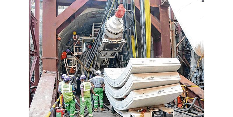 Chinese TBM being used for tunnelling