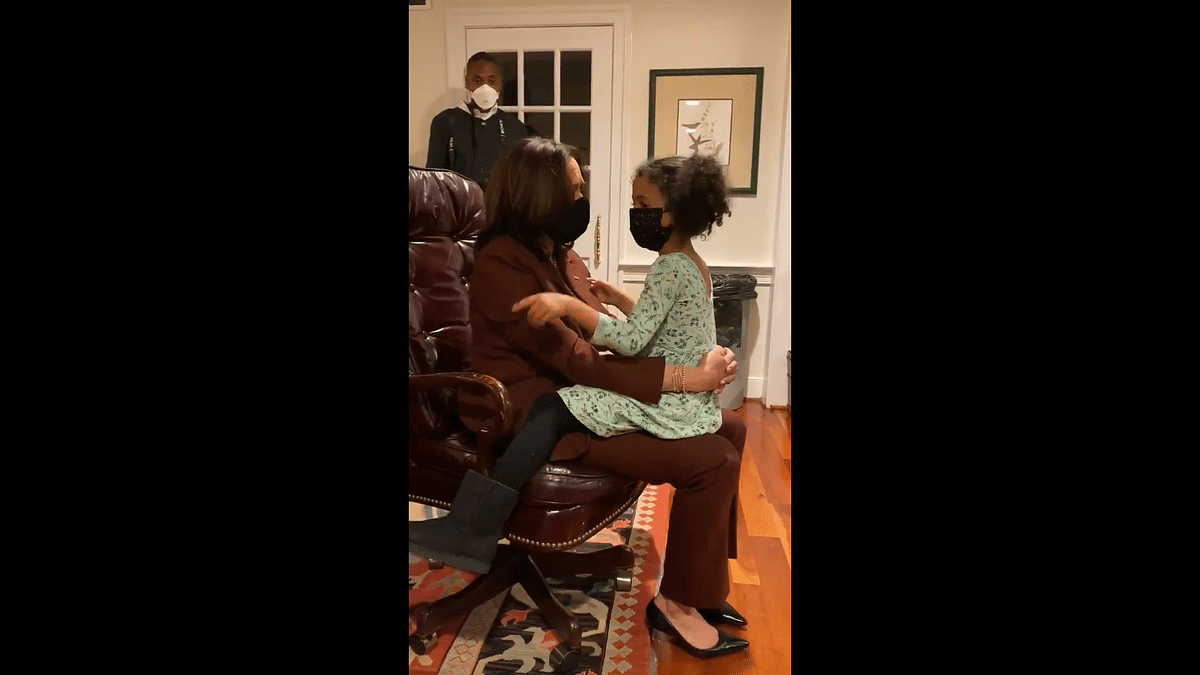 'You could be President': Kamala Harris' chat with 4-year-old grand-niece goes viral; watch video