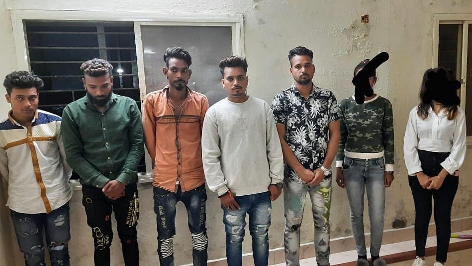 Miscreants under arrest.