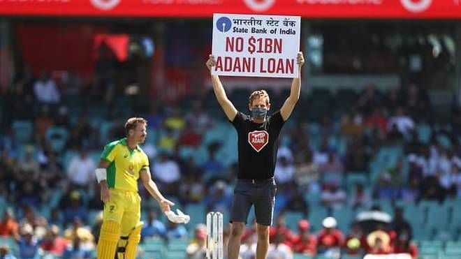 India vs Australia 1st ODI: Protesters enter Sydney ground with placards denouncing Adani's coal project in Australia