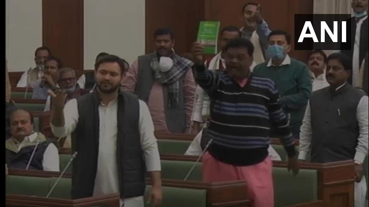 Nitish hits back at Tejashwi, asks who made him Deputy CM