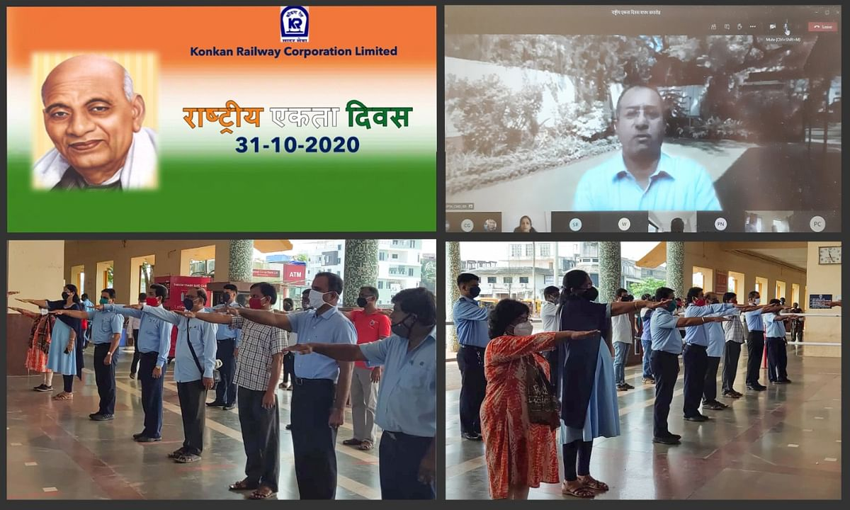 Konkan Railway Corporation celebrates birth anniversary of Sardar Vallabhbhai Patel