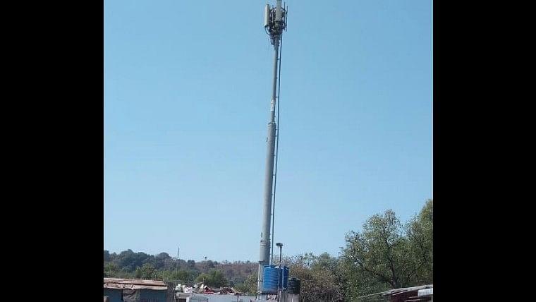 Mobile tower in Morwa village