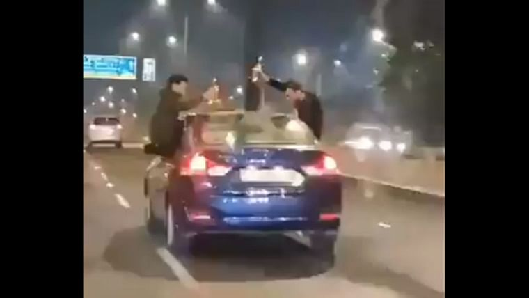 Mumbai: Three youths arrested for dangerous stunts in moving car while consuming liquor - watch video
