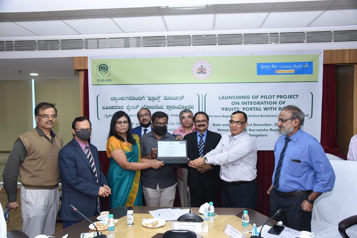 Portal for land records 'FRUITS' launched at NABARD, Karnataka Regional Office