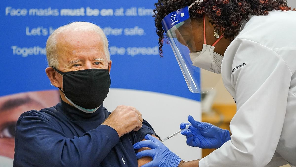'Owe a lot to scientists and researchers': US President-elect Joe Biden receives Pfizer COVID-19 vaccine shot