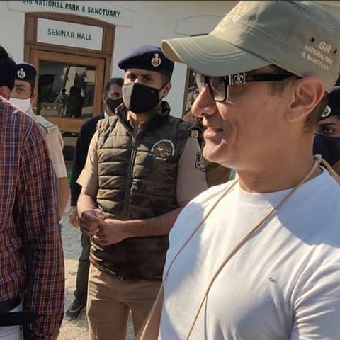 Watch: Aamir Khan greets fans as he enjoys Safari at Gir National Park with Kiran Rao, Azad and Ira; video goes viral