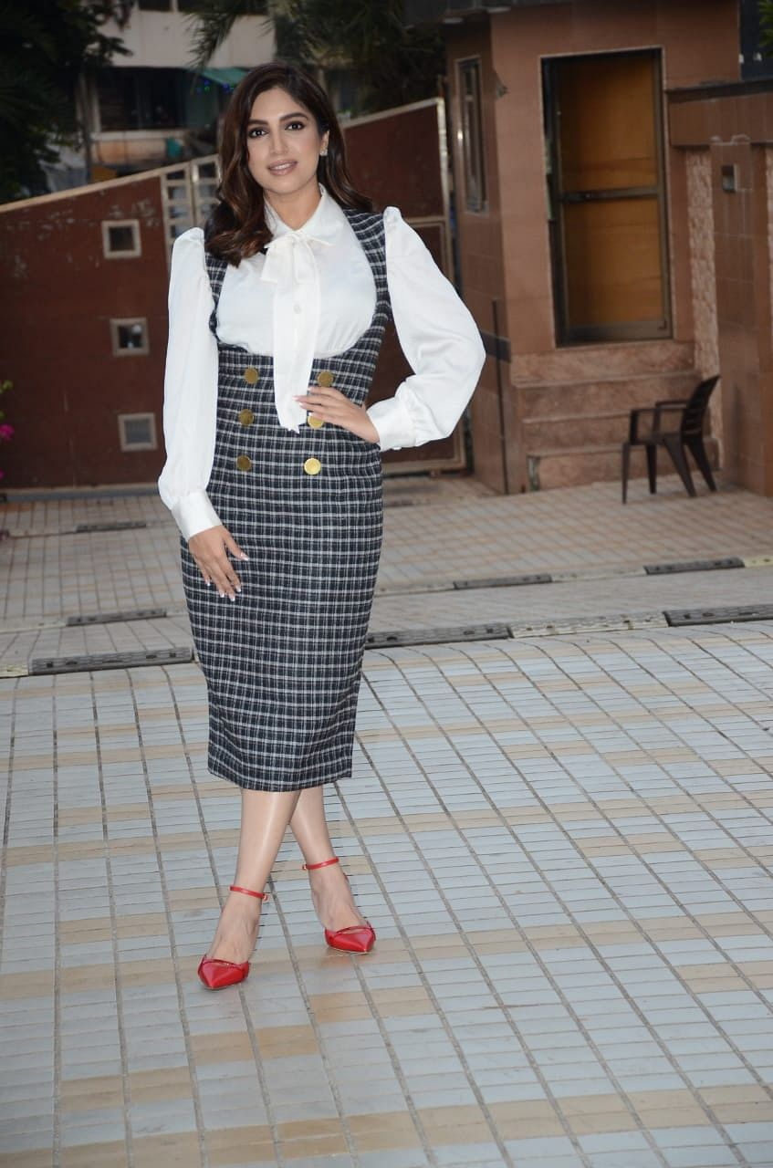 Bhumi Pednekar in Bandra for 'Durgamati' promotions